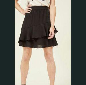 Modcloth Ruffled Mini Skirt